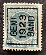 PREO 86A GENT 1923 GAND - Typos 1922-31 (Houyoux)