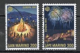 Europa CEPT 1981 Saint Marin - San Marino Y&T N°1024 à 1025 - Michel N°1225 à 1226 (o) - 1981