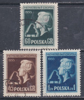 """Pologne N° 782 / 84 O :  5è Concours International """" Frédéric Chopin"""" De Piano à Varsovie.  Les 3 Valeurs Oblitérées, TB - Usados"""