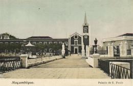 PC CPA MOZAMBIQUE, PALACIO DE S. PAULO, Vintage Postcard (b24886) - Mozambique