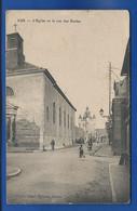 RUE     L'Eglise Et La Rue Des Ecoles Animées    écrite En  1916 + Cachet Militaire - Rue