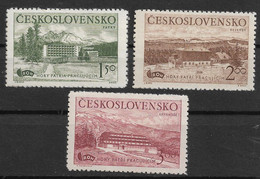 Czechoslovakia 1951 Mountain Recreation Centers. Beautiful Set. Mi 657-659/Sc 452-454. MNH/MLH - Ongebruikt