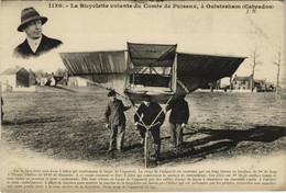PC CPA AVIATION LA BICYCLETTE VOLANDE DU COMTE DE PUISEUX  (b24222) - Zonder Classificatie