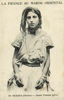 PC CPA JUDAICA, OUDJA, MAROC, JEUNE FEMME JUIVE, Vintage Postcard (b25323) - Jewish