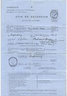 GB : Avis De Réception (Advice Of Delivery) De 1914 D'une Lettre Recommandée Pour La France - Covers & Documents