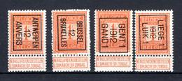 PRE028B/031B MNH** 1912 - Typo Precancels 1912-14 (Lion)