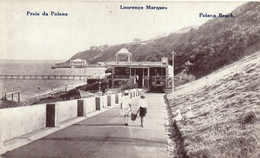 PC CPA MOZAMBIQUE, LOURENCO MARQUES, POLANA BEACH, Vintage Postcard (b26746) - Mozambique