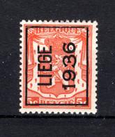 PRE311A MNH** 1936 - LIEGE 1936 - Typo Precancels 1936-51 (Small Seal Of The State)