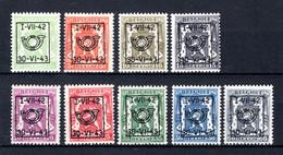 PRE484/492 MNH** 1942 - Klein Staatswapen Opdruk Type D - REEKS 23 - Typografisch 1936-51 (Klein Staatswapen)
