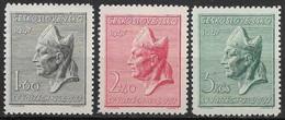 Czechoslovakia 1947 Saint Adalbert. Nice Set. Mi 515-517/Sc 326-328. MNH - Ongebruikt