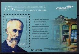 Costa Rica 2018. 175th Birth Anniversary Of Mauro Fernández Acuña, Costa Rican Politician. Famous People. MNH - Costa Rica