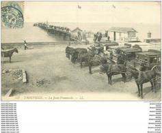 WW 14 TROUVILLE. Nombreux Fiacre Diligence Des Hôtel Sur La Jetée Promenade 1906 - Trouville