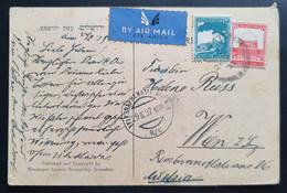 PALÄSTINA 1937, Postkarte MiF JERUSALEM Nach Wien - Palestina
