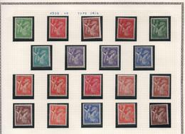 Série Complète (avec Quelques Doubles Différents) Des Iris De 1939-1941 Et 1944 - Timbres Neufs, Sans Charnière - 1939-44 Iris