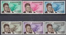 Rwanda 1965 - The 2nd Anniversary Of The Death Of John F. Kennedy - Mi 129-134 ** MNH - 1962-69: Neufs