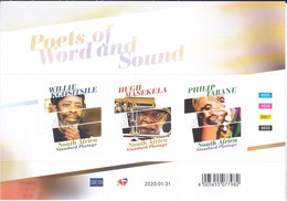 Zuid Afrika 2020, Postfris MNH, Poets Of Word And Sound - Unused Stamps