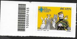 ITALIA - 2021 - E.N.P.A.-GARIBALDI -  TARIFFA B - NUOVO CON CODICE A BARRE A SINISTRA - Códigos De Barras