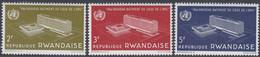 Rwanda 1966 -  Inauguration Of W.H.O. Headquarters In Geneva - Mi 168-170 ** MNH - 1962-69: Neufs