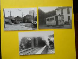 Photo ,TRAMWAY Et Gares Du VAR, Collection Bourneuf ,lire Descriptif ,Toulon ,dépôt Brunet Et Accident - Trains