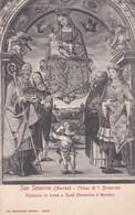 San Severino Marche (MACERATA) - CARTOLINA - CHIESA DI S. DOMENICO - MADONNA IN TRONO E SANTI - Macerata