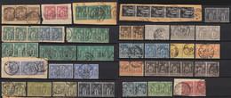 France 1876 Lot De 31 Paires Ou Bandes, Entre N° 69 Et 104 COTE +370€ - B/TB - 1876-1898 Sage (Type II)