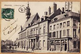 X80098 PERONNE Somme Hotel De Ville Tampon B.M Bureau Mobile 1910s à BLANCHETTE Pont-Sainte-Maxence Oise - Peronne