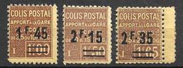 France Colis Postaux YT N° 88A/90 Neufs ** MNH. TB. A Saisir! - Nuevos