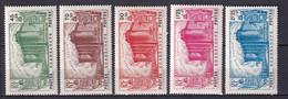 GUADELOUPE - YVERT N° 146/150 * MLH - COTE 2015 = 70 EUR. - REVOLUTION - 1939 150e Anniversaire De La Révolution Française