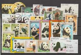 Zoogdieren - Panda - Wereld - 25 Zegels - Gestempeld/oblitéré/used - Bears