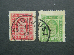 1875 Denmark Official Stamp Rare Cancellation Gudhjem - Annulleret Med Lapidar Gudhjem - Dienstzegels