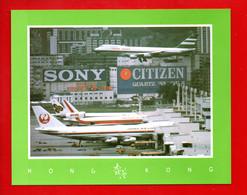 """CHINE . HONG KONG . """" HONG KONG INTERNATIONAL AIRPORT """" - Réf. N°655F - - China (Hong Kong)"""