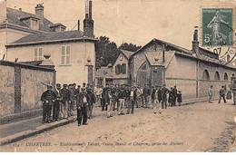 CHARTRES - Etablissements Teissel, Veuve Brault Et Chapron, Sortie Des Ateliers - état - Chartres