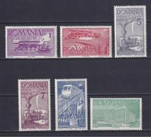 ROMANIA 1939, Mi# 609-614, CV €25, Trains, MH - Unused Stamps
