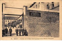 BREST - Entrée Du 2e Dépot Des Equipages De La Marine Française - Très Bon état - Brest
