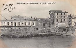 CONCARNEAU - L'Atlantic Hôtel Et Le Vivier, Vus De La Mer - Très Bon état - Concarneau