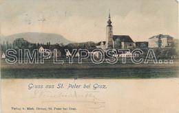AK OLD POSTCARD - AUSTRIA - GRUSS AUS ST. PETER BEI GRAZ - VIAGGIATA PRIMI ' 900 -  P48 - Graz