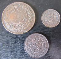 Tunisie - 3 Monnaies En Bronze AH 1279 Et 1281 - Tunesië
