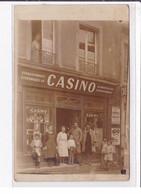 TOULON SUR ARROUX  : Carte Photo Du Magasin CASINO (place D'Armes) - Bon état - Altri Comuni