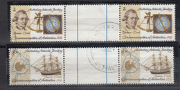 AAT 1972 200th Anniversary Of Cook In The Antarctic 2v Gutter Used  (52146) - Usados