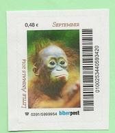 BRD - Privatpost -  Biberpost  -  Affe -  Orang Utan (Pongo Pygmaeus) - Mono