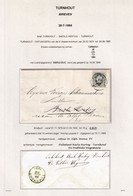 DDZ 284 - RARE Lettre TP 30 TURNHOUT 1884 Vers BAERLE HERTOG - Onbekend En Retour , De Postbode Wagemans TURNHOUT - 1869-1883 Leopoldo II