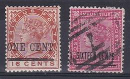 Maurice Colonie Britanique YT*+° 77-78 - Mauritius (...-1967)