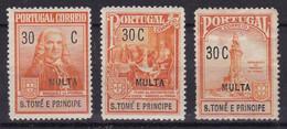 Saint Thomas Et Prince Colonie Portugaise Tax YT*+° 52-54 - Africa Portuguesa
