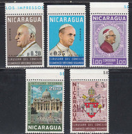 Nicaragua 1966 Poste Aerienne Cloture Du Concille Oecumenique Vatican II - Nicaragua