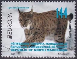 Europa Cept - 2021 - Macedonia, Mazedonien - 1.Stamp - (Wildlife) ** MNH - 2020