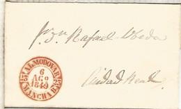 ENVUELTA DE ALMODOVAR A CIUDAD REAL 1849 CON BAEZA MUY BONITO - ...-1850 Voorfilatelie