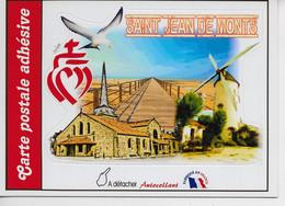 VENTE FLASH LIQUIDATION / Carte Adhésive De SAINT JEAN-de-MONTS / MA COMP'PERSO / NON CIRCULEE +++ RARE - Saint Jean De Monts