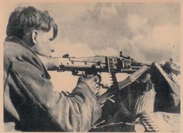 Foto- Dt. Wehrmacht - Maschinengewehr Schütze In Brody (Ukraine) - 1944 - War 1939-45