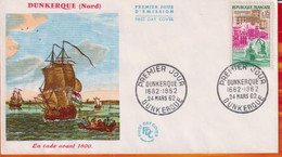 FDC- Edition  JF # FRANCE-1962 # Sites & Monuments - Dunkerque  (Yvert N° 1317   #  Obl. PJ Dunkerque - 1960-1969
