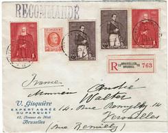 CTN68ETR-  BELGIQUE LETTRE RECOMMANDEE  DU 24/2/1933 AVEC FERME LETTRE - Covers & Documents